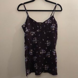 Urban Outfitters Purple Floral Mini Dress